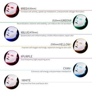 Image 3 - 7 Colors Light LED Facial Mask Skin Rejuvenation LED Mask Phototherapy Face Care Beauty Anti Acne Whitening Wrinkle Removal Mask