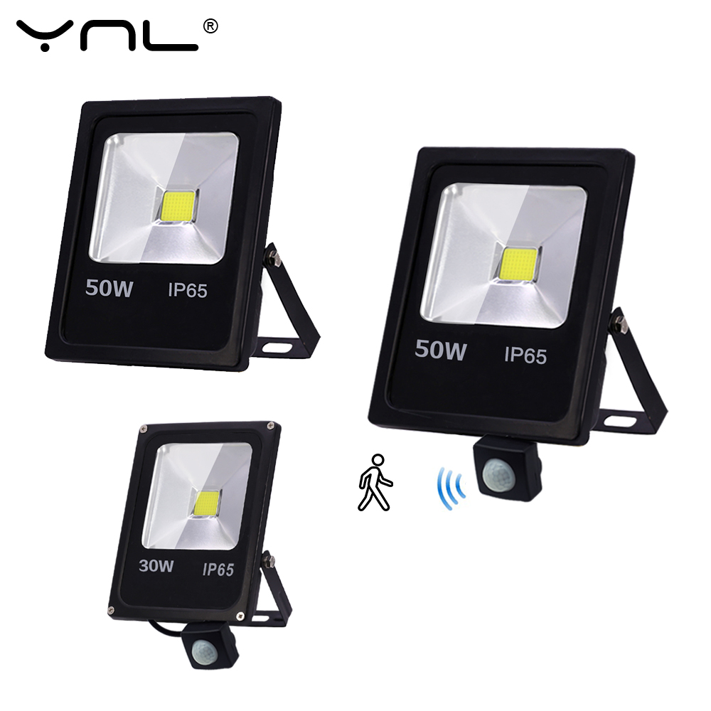 <font><b>Led</b></font> Flood Light IP65 Waterproof Motion Sensor <font><b>LED</b></font> Floodlight 50W 30W <font><b>10W</b></font> <font><b>Reflector</b></font> 220V Wall Lamp Garden <font><b>LED</b></font> Spotlight Outdoor image