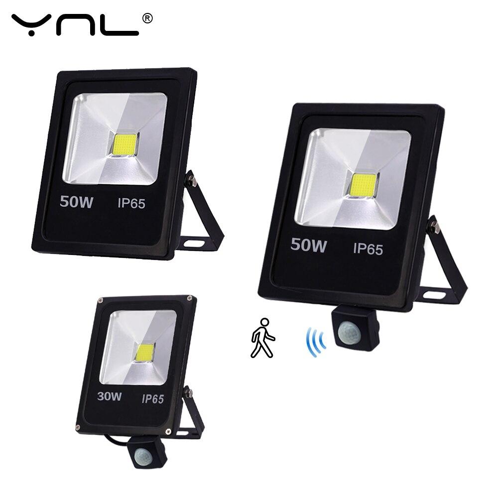 Led Flood Light IP65 Waterproof Motion Sensor LED Floodlight 50W 30W 10W Reflector 220V Wall Lamp Garden LED Spotlight Outdoor