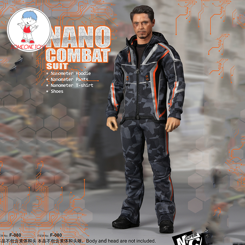 SUPERMCToys (F-080) 1/6 Tony Stark Nano Casual Clothes Suit Avengers For 12 Inches DIY Action Figures