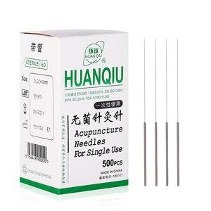 Image 5 - Agulhas estéreis 10 pces da acupuntura das agulhas descartáveis da acupuntura da acupuntura da terapia universal de 500 pces com um tubo