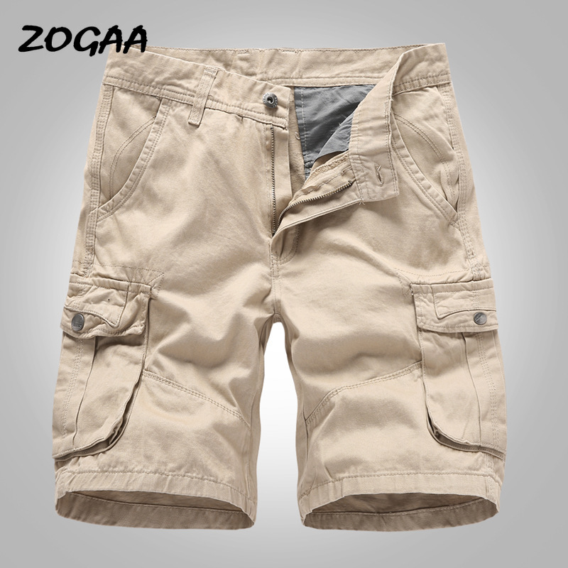 ZOGAA Cargo Shorts Men 2020 New Mens Casual Cotton Shorts Male Loose Work Shorts Man Military Short Pants