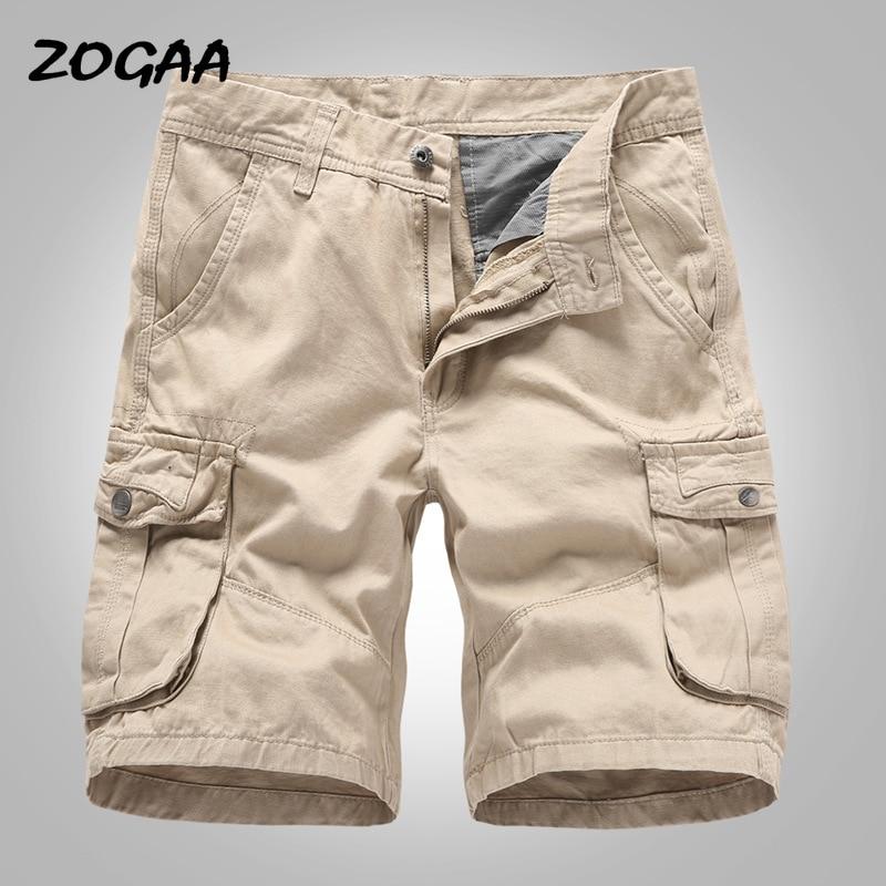 ZOGAA Cargo Shorts Men 2020 New Mens Casual Cotton Shorts Male Loose Work Shorts Man Military Short Pants