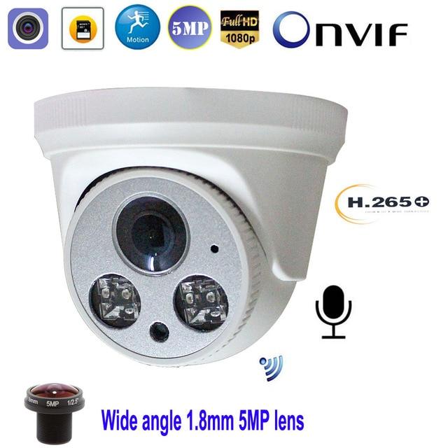 풀 HD 5MP 1080P WiFi 무선 IP 카메라 P2P Onvif 1.8mm 돔 실내 CCTV 감시 SD/TF 카드 슬롯 CamHi Keye 보안