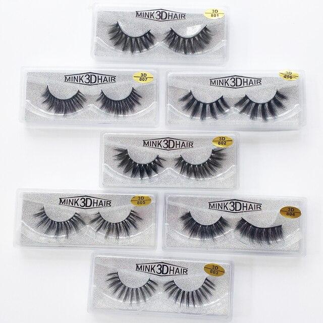 Wholesale Eyelashes 20/30/50/100 Pairs 3D Mink Lashes Natural False Eyelashes Hand Made Makeup Eye Lashes 3D Mink Eyelashes Bulk 4