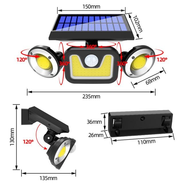 светодиодный светильник на солнечной батарее открытый 3 режима фотография