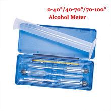 5 pièces/ensemble 5 pièces/4 pièces compteur d'alcool vin compteur de Concentration d'alcool Instrument hydromètre testeur thermomètre 0-100%
