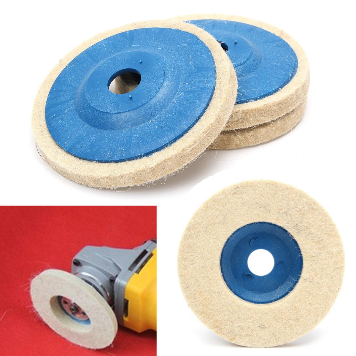 3Pcs Set 100mm Wool Buffing Angle Grinder Wheel Felt Polishing Disc Pad Tool For Sander Polishing Disc Buffing Car Polisher