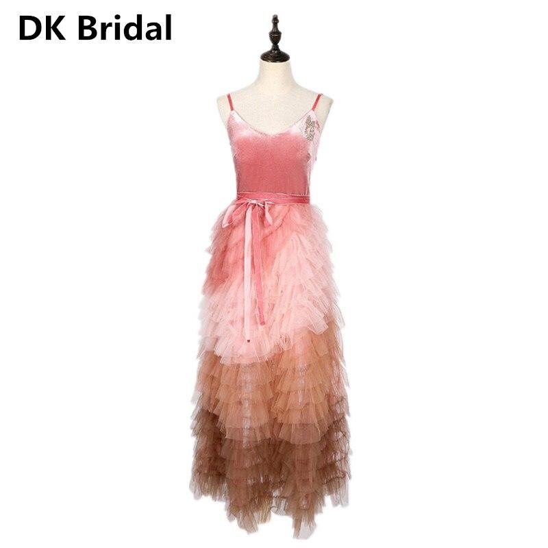 A-line Sequined Beaded   Evening     Dress   Gown Elegant Robe De Soiree Gradient V-neck   Evening     Dresses   Long   Dress   Vestido De Festa