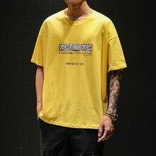 2019 Summer Men's New Casual Letter Pattern Printing Short-sleeved Round Neck T Shirt Loose Temperament Trend Cotton Tshirt цены