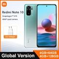 Глобальная версия Xiaomi Redmi Примечание 10 4 ГБ/64 Гб/128 Гб Смартфон Snapdragon 678 6,43 активно-матричные осид дисплеем 5000 мА/ч, 48MP Quad Camera Note10