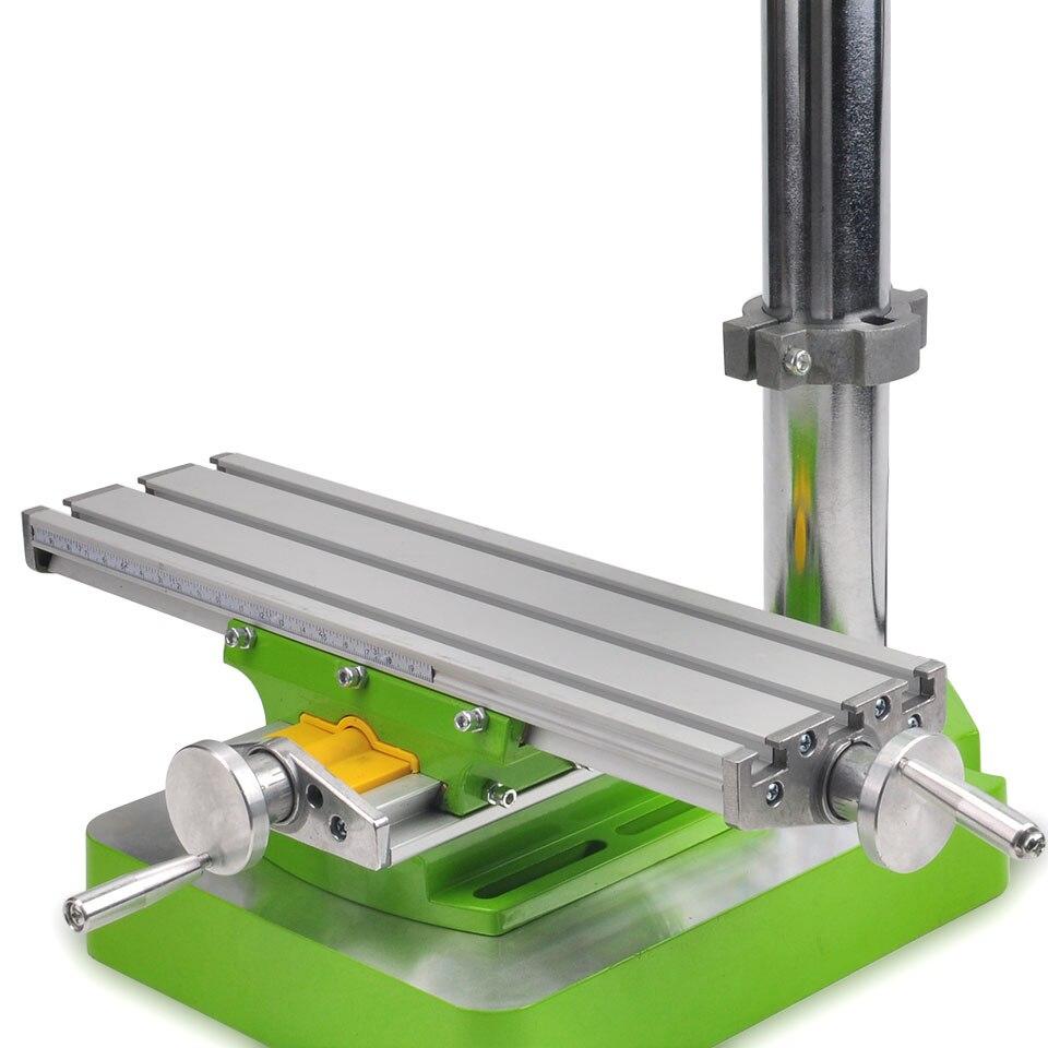Mini 5168E bohrmaschine tabelle Präzision Tisch Fräsmaschine Schraubstock Arbeit Tisch Multifunktions Arbeitstisch Bohrer MillingMachine