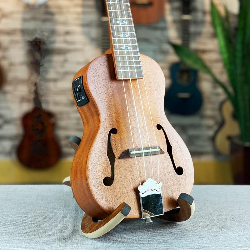 Jazz ukulélé 23 pouces tout acajou Mini Electri Concert guitares acoustiques 4 cordes Ukelele pick-up voyage guitare musique Guitarra