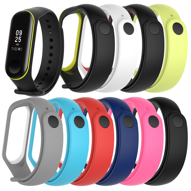 New Watch Band For Xiaomi Mi Band 4 3 Double Color Wristband Anti-lost TPU Material Wrist Strap For Xiaomi Mi Bracelet 3 4