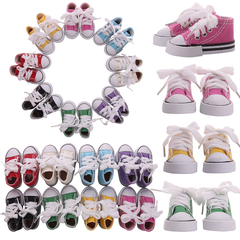 5cm-7.5cm Doll Shoes Denim Sneakers Canvas For Doll Baby Mini Shoes Boots For1/6 Doll Russian DIY Handmade Girl`s Christmas Toy