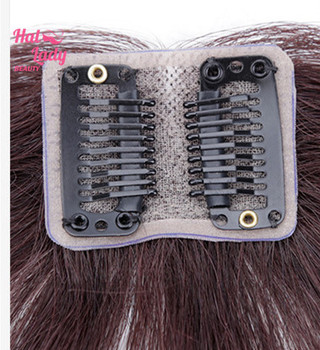Halo Lady Beauty Clip In Bangs Human Hair Air Bang Brazilian Hair Pieces Invisible Seamless Non-remy Replacement Hair Wig 5