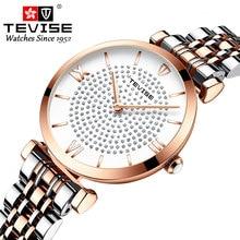 TEVISE Luxury Brand Diamonds Encrusted Women Watch