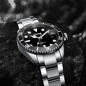 Image 5 - Mens Wristwatch Clock Green/Black Water Ghost Series Mens Waterproof Watches Quartz Watch For Men Luxury Casual Brand DOM 2019