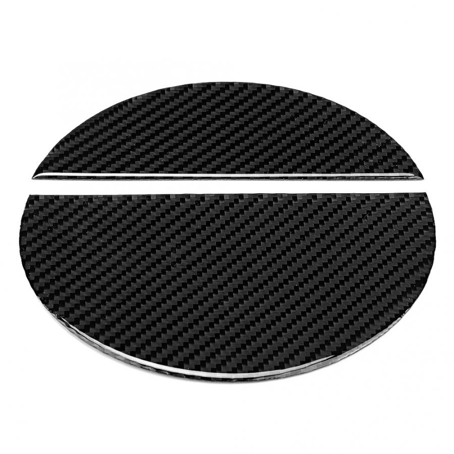 Carbon Fiber Fuel Tank Cap Cover Trim Sticker Left Hand Driving Fit for Ford <font><b>Mustang</b></font> <font><b>2015</b></font> 2016 2017 2018 <font><b>2019</b></font> Accessories image