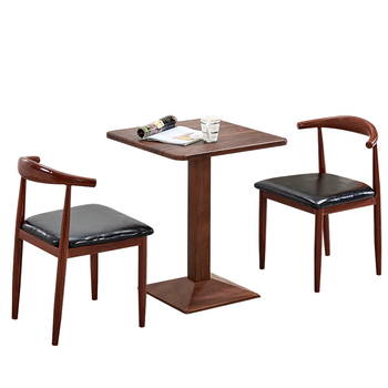 Nordic dining chair simple  back lazy leisure  home restaurant cafe tables and s imitation solid wood horn