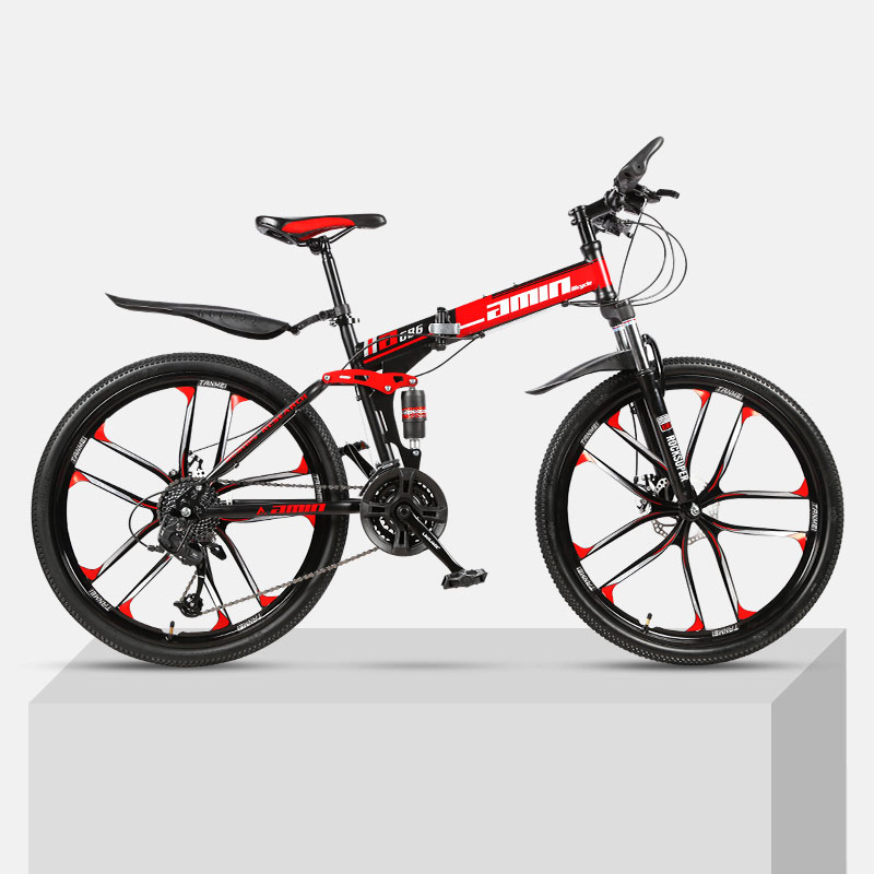 21-Speed Mountain Folding Bicycle 24/26-inch Double Shock Absorption Variable Speed Fast Bike For Male And Female Students
