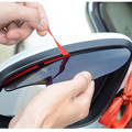 2 шт., автомобильные накладки для бровей из ПВХ