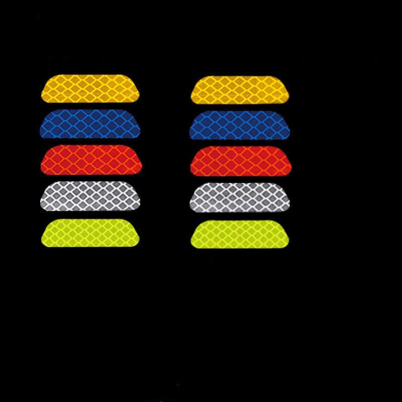 2 sztuk/zestaw samochodów odblaskowe naklejki drzwi samochodu koło diamentowe brwi naklejka naklejka taśma ostrzegawcza znak bezpieczeństwa paski odblaskowe