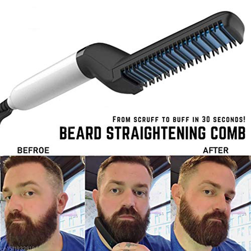 Multifunctional Hair Comb Beard Straightener Hair Straighten Comb Hair Curler Quick Hair Styler For Men Quick Hair Male Board