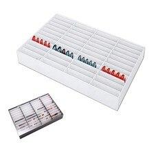 44 grades de unhas falsas dicas cor display titular caixa de armazenamento para unhas decoração da arte