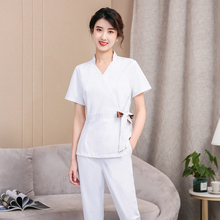 Salon cosmetologist overalls female skin management tattoo technician breathable sweat pants new