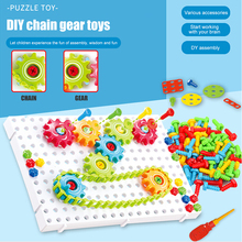 Building-Kits-Tool Assembled Puzzle Children for Kids DIY Chain-Toy Model Craft Gift