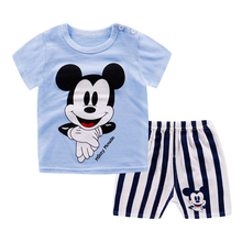 цена на Casual Toddler Kids boy girl Clothes 2 Piece Clothing Set summer T shirt Shorts Clothing Boys Tracksuit Children Baby Clothes