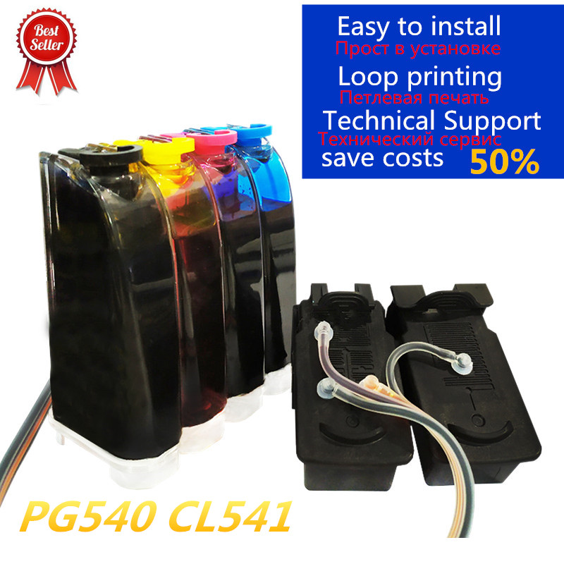 Compatível para Canon 540 Tinta Ciss Pixma Mg4250 Mg3250 Mg3255 Mg3550 Mg4100 Mg4150 Impressora Pg-540 Cl-541 Pg540 Cl541 pg