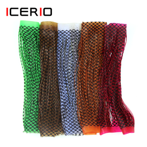 1PCS Fly Tying Material Grizzly Barred Rubber Flutter Silicone Legs Dry Streamer Buggy Nymph Legs Tying Fish Hook Rubber String(China)