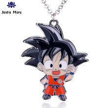 Anime Dragon Ball Z Necklace New Arrival Character Son Goku Saiyan Pendant Metal Necklaces For Cartoon Fans Christmas Gifts
