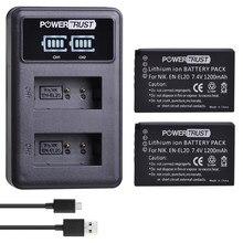 EN-EL20 EN-EL20A EN EL20 EN EL20a batterie akku + LED USB double chargeur pour Nikon Coolpix P1000 Nikon S1 J1, J2, J3 Nikon1 AW1
