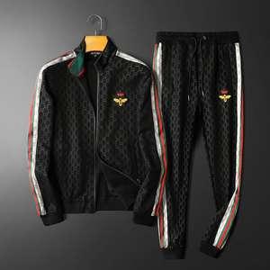 Suit Men Two-Piece-Set Casual Fashion Long-Pants Sports Autumn European-Station's