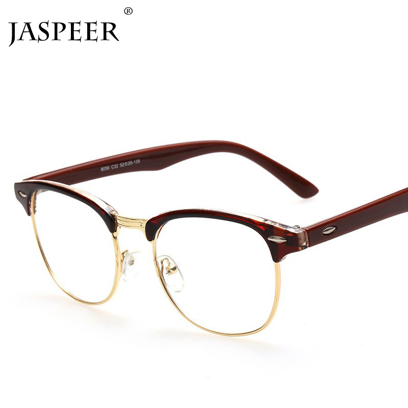 JASPEER New Anti Blue Light Blocking Glasses Retro Glasses Frame Men And Women Square Computer Goggles Eye Protection Eyewear