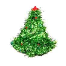 цена на Christmas Decorations Christmas Tree Hat Christmas Tree Hat Christmas Straw Hat Party Dress Up Props Cap