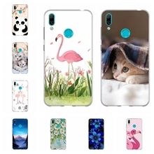 For Huawei Y5 2019 Y6 2018 Y7 Case TPU Mate 20 lite Honor 5 Play Cover Cat Pattern II 7A Bag