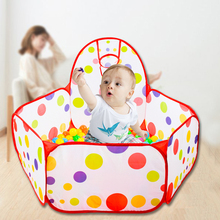 Baby Playground Playpen Portable Children Ocean Ball Dry Pool Park with Basketball Folding Indoor Outdoor Kids Balloons Toys