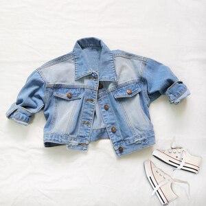 Image 2 - Babyinstar Girls Denim Jacket & Coats Kids Outwear Childrens Jacket  Baby Clothes Girls Fashion Style Jeans Jacket Girls Coats