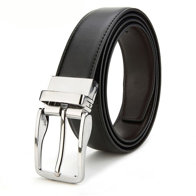 Double-sided Men's Genuine Leather Belt Reversible Belt for Causal Classic High Quality Pin Buckle Male Belt Fashion & Designs Men's Belt Men's Fashion