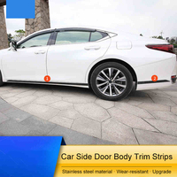 Stainless Steel Anti rub Car Side Door Body Moulding Trim Strip Stickers Exterior Accessories 4Pcs For Lexus ES200 260 300H 2018