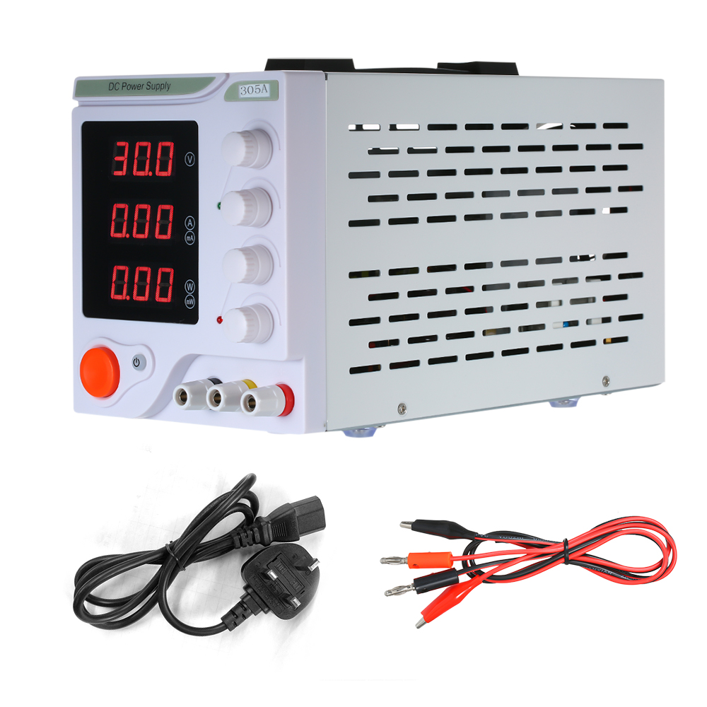 Adjustable Laboratory Regulated DC Power Supply Switching Power 3 Digits Display LED 0-30V 0-5A High Precision Electrical Source