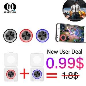 Image 1 - Круглый игровой джойстик для мобильного телефона, металлический кнопочный контроллер, игровой коврик для pubg, присоска для pubg, геймпад для iPhone Android