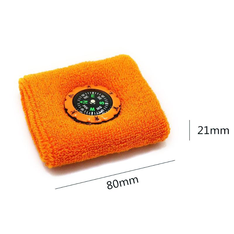 Durable Compass Fashion Sweat Band / Survival Wristband Bracelet for Outdoor Camping/Hunting/Hiking 1