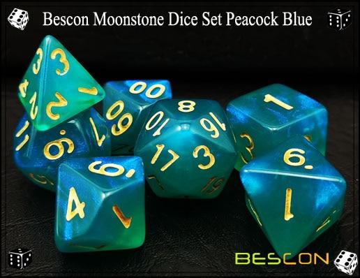 Peacock Blue Dice Set-3
