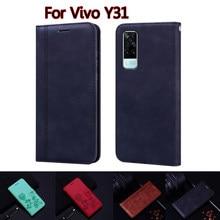 Чехол-книжка с бумажником для Vivo Y31, кожаный чехол-книжка для Vivo Y 31 2021, защитный чехол для телефона
