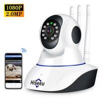 HISEEU-cámara IP inalámbrica de seguridad para el hogar, cámara de seguridad para el hogar, resolución de 1080P HD, Wifi, 2MP, VERSIÓN NOCTURNA P2P, CCTV para el hogar, Monitor para bebés